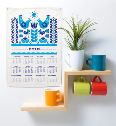 2018 Tea Towel Calendar and Gift Card FREE Printables